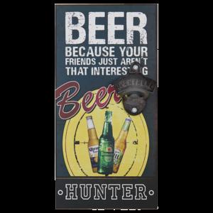 BEER HUNTER פותחן בקבוקי בירה תלוי על קיר